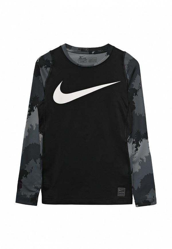 Купить Лонгслив спортивный Nike черного цвета