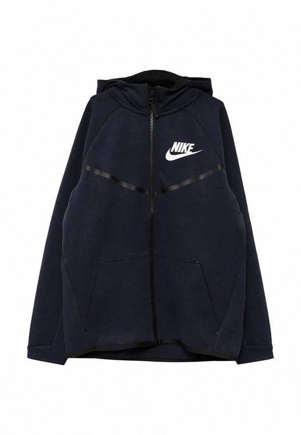 Толстовка Nike Nike NI464EBPDA54 shot shot standart синий узор