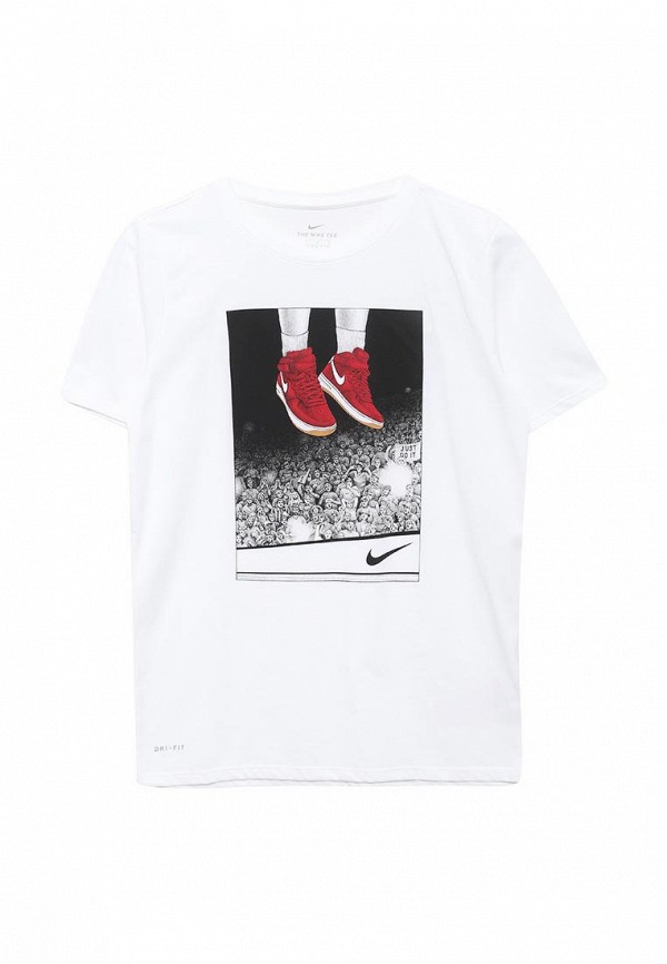 Купить Футболку спортивная Nike белого цвета