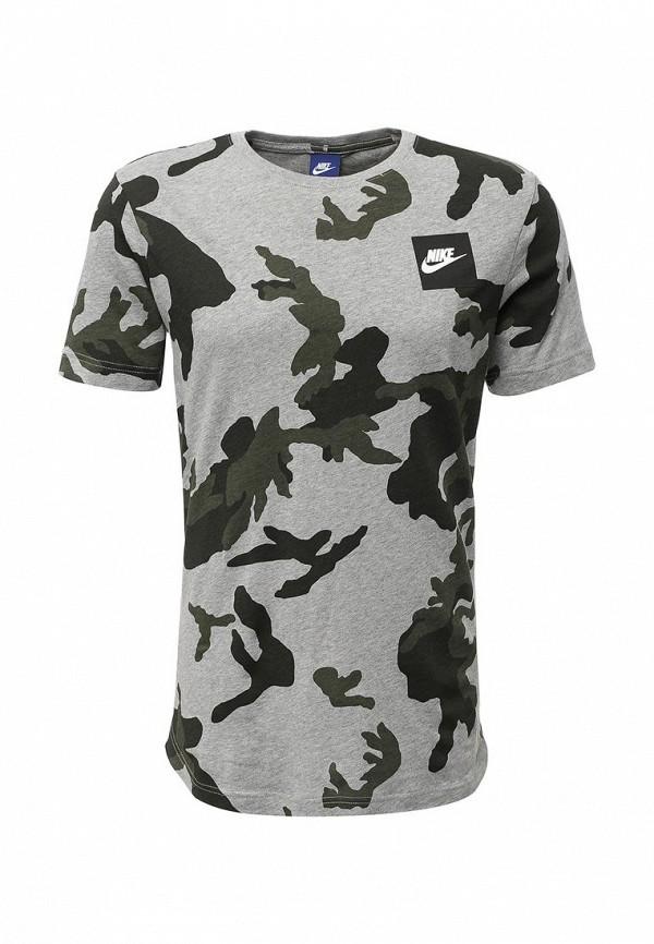 Фото - мужскую футболку Nike серого цвета