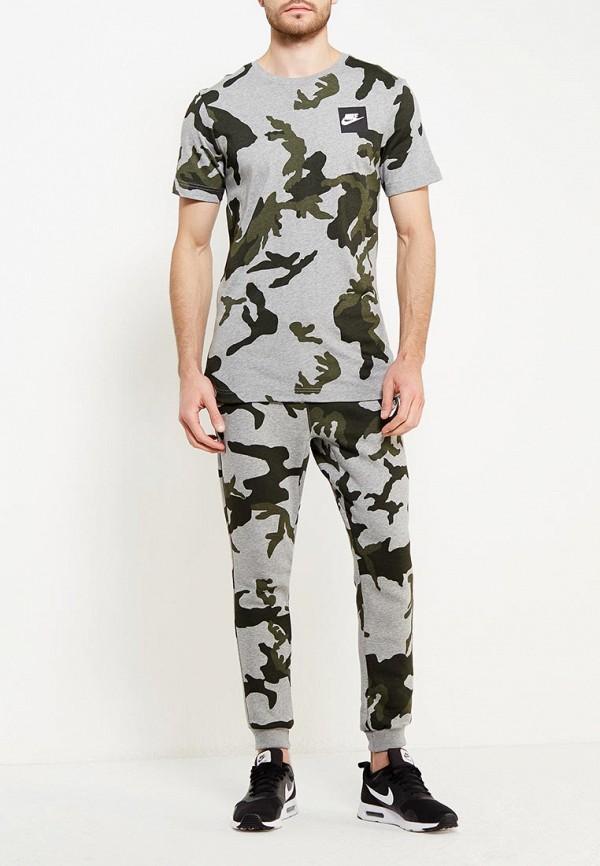 Фото 6 - мужскую футболку Nike серого цвета