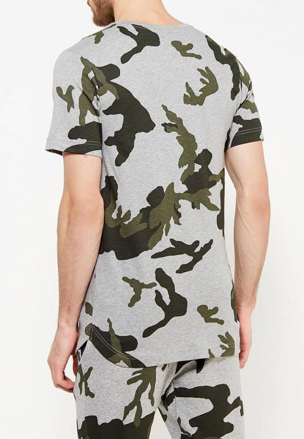 Фото 7 - мужскую футболку Nike серого цвета
