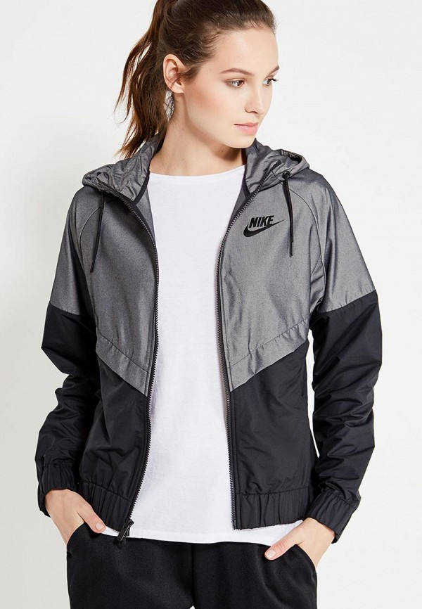 Фото - Ветровка Nike серого цвета