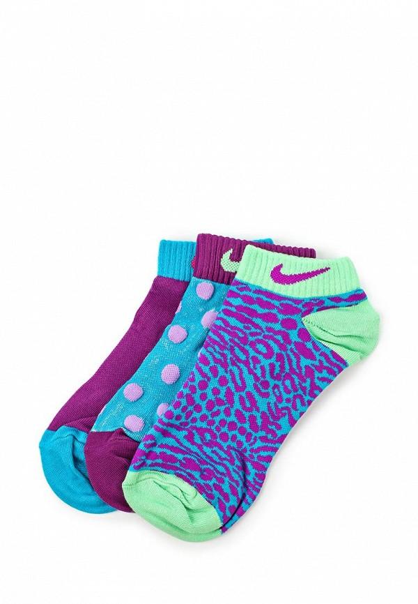 Комплект носков 3 пары. Nike 3P GIRL\'S GRAPHIC LTW CTN LOW