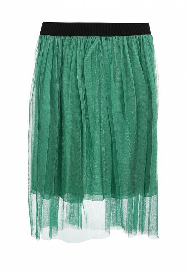 Зеленая итальянская осенняя юбка