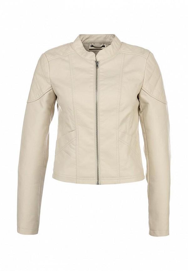 Куртка кожаная Noisy May NO963EWBYS43. Цвет: бежевый