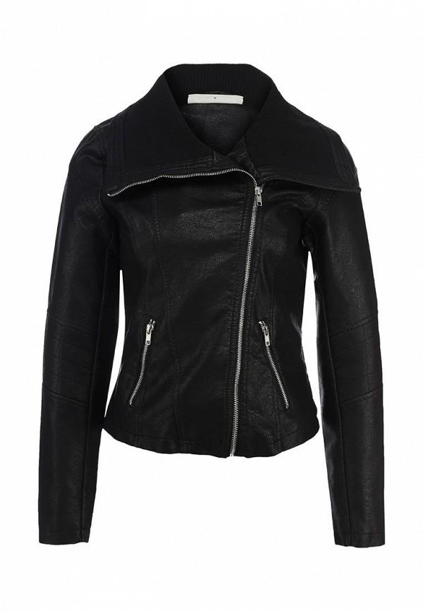 Куртка кожаная Noisy May NO963EWBYS58. Цвет: черный