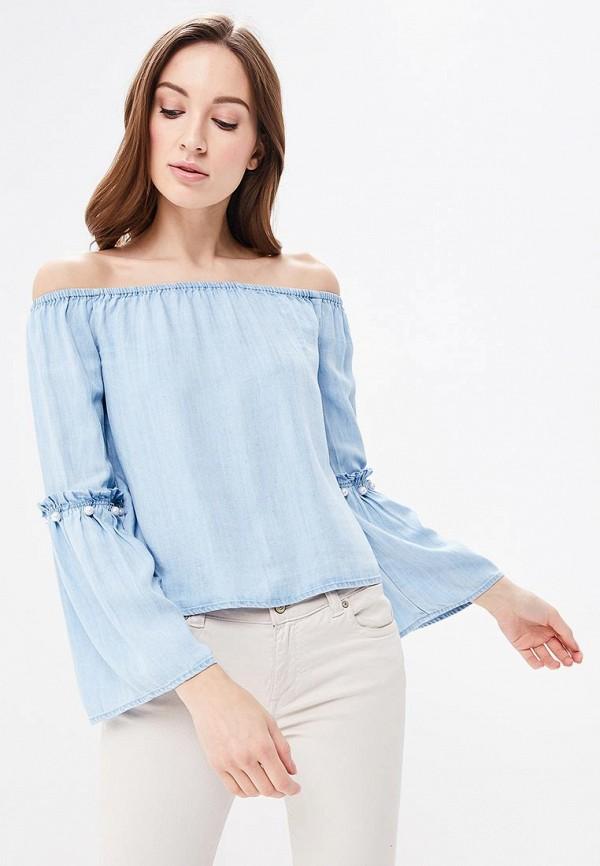 Блуза Only, ON380EWAFTK3, голубой, Весна-лето 2018  - купить со скидкой