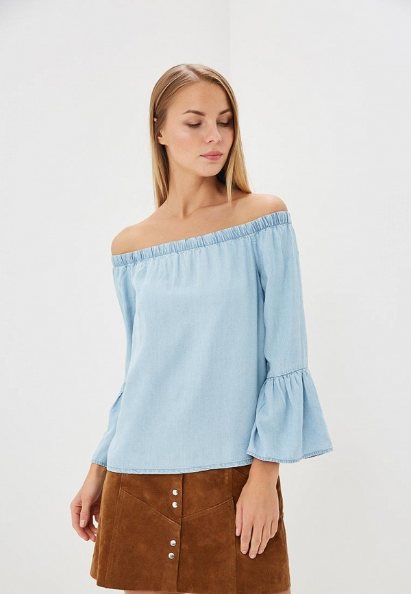 Купить Блуза Only, ON380EWZKW90, голубой, Весна-лето 2018