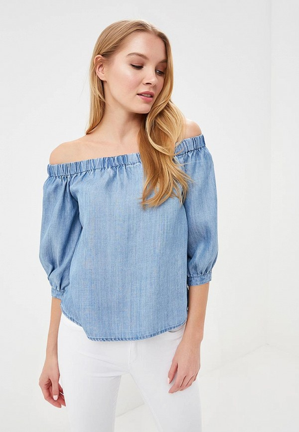 Купить Блуза Only, ON380EWZKX18, голубой, Весна-лето 2018