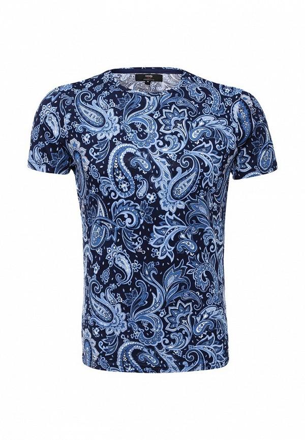 Купить мужскую футболку oodji синего цвета