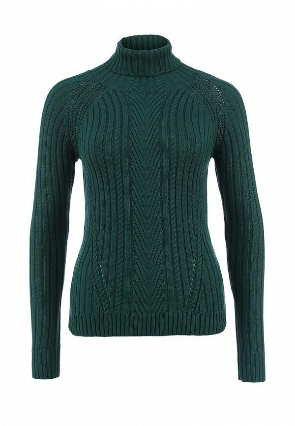 Женский зеленый осенний свитер