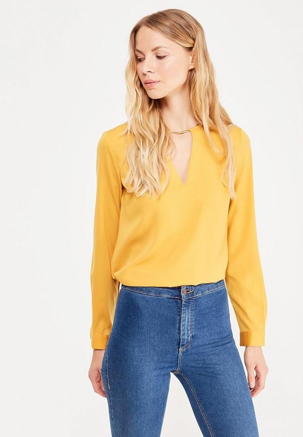 Фото - женскую блузку oodji желтого цвета