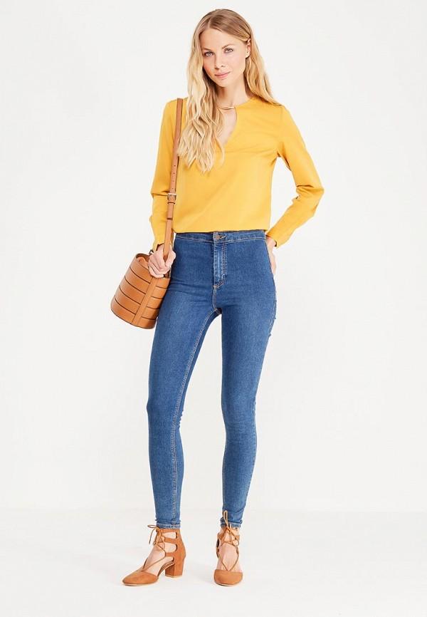 Фото 2 - женскую блузку oodji желтого цвета