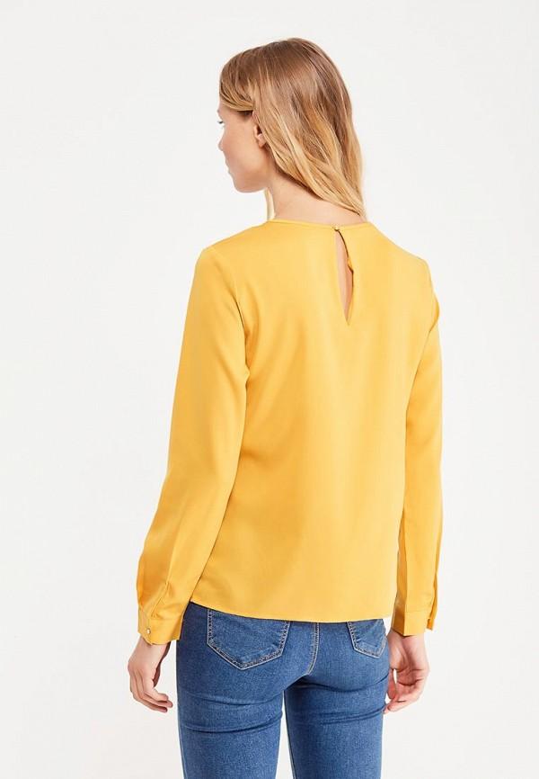 Фото 3 - женскую блузку oodji желтого цвета