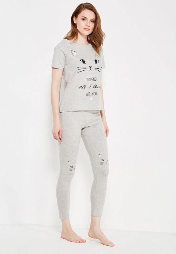 Фото - женский халат или пижаму oodji серого цвета