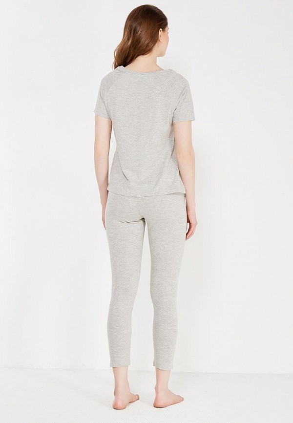 Фото 3 - женский халат или пижаму oodji серого цвета