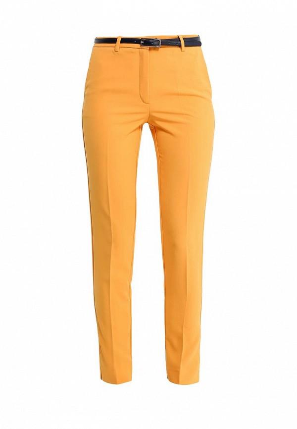 Купить женские брюки oodji желтого цвета