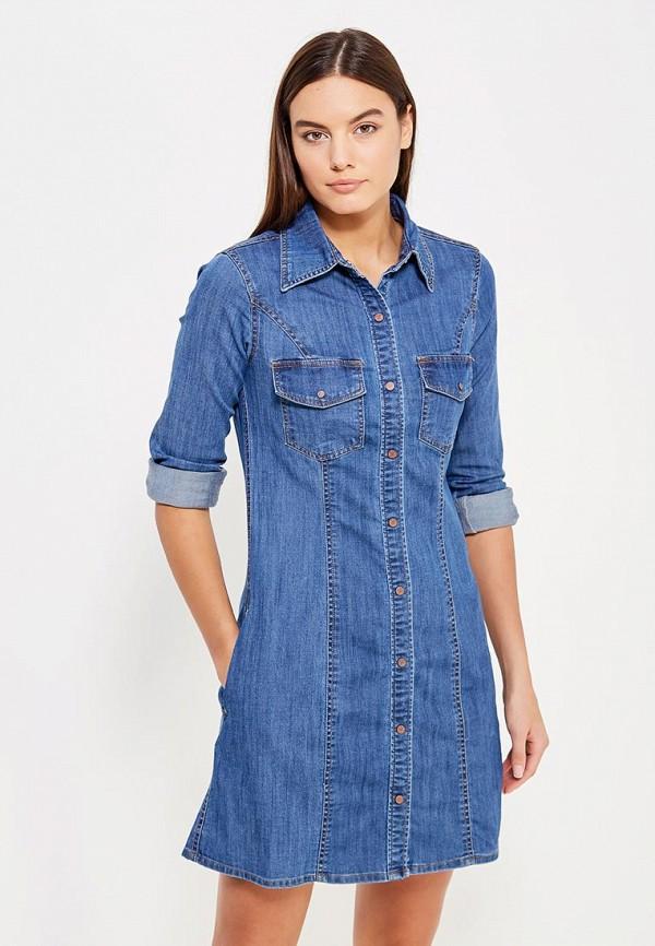 Платье джинсовое oodji oodji OO001EWXOX04 пуловер oodji oodji oo001ewiht90