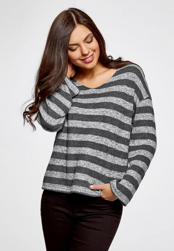Пуловер oodji oodji OO001EWZQE86 пуловер oodji oodji oo001ewiht90