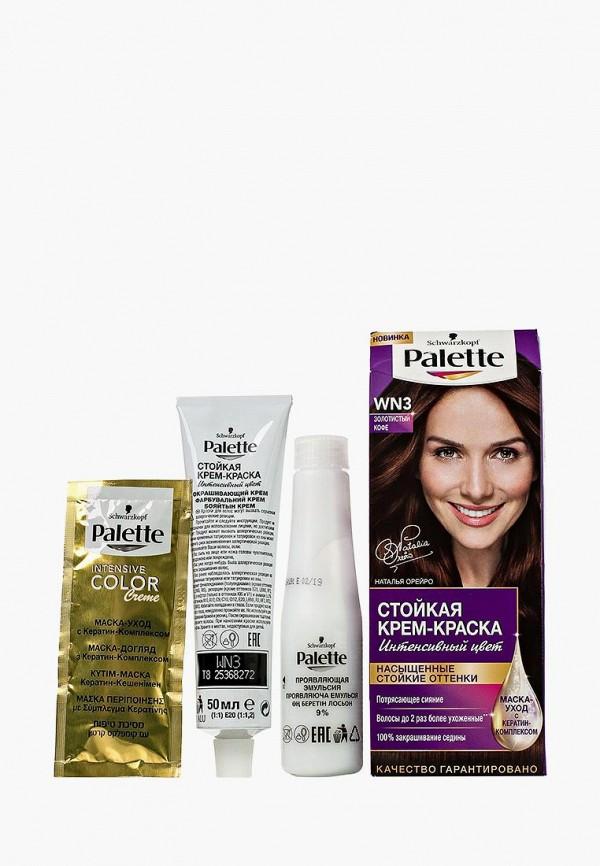 Купить Краска для волос Palette, Стойкая WN3 Золотистый кофе, 100 мл, PA061LWJOK64, Весна-лето 2018