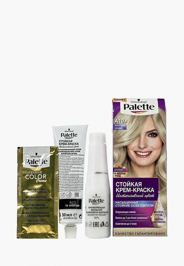 Купить Краска для волос Palette, Стойкая A10 Жемчужный блондин, 100 мл, PA061LWJOK66, Весна-лето 2018