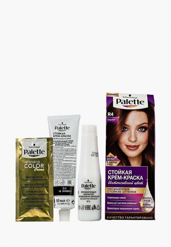 Купить Краска для волос Palette, Стойкая R4 Каштан, 100 мл, PA061LWJOK70, Весна-лето 2018