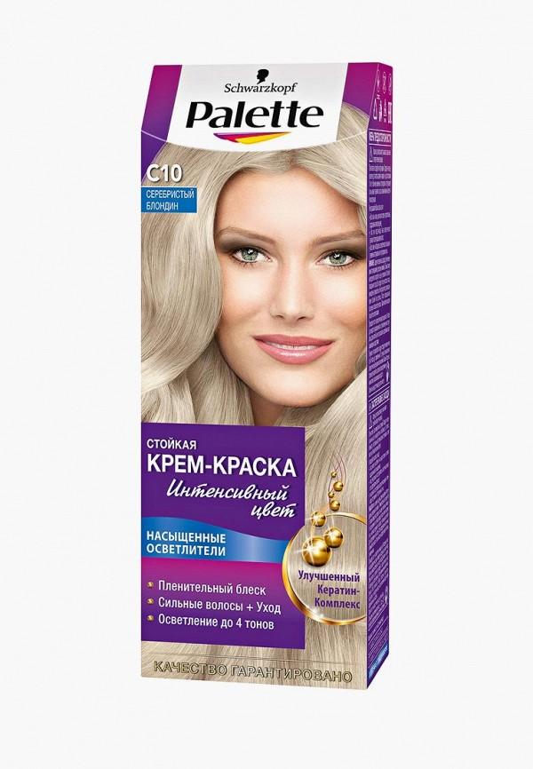 Купить Краска для волос Palette, Стойкая C10 Серебристый блондин, 100 мл, PA061LWJOK76, Весна-лето 2018