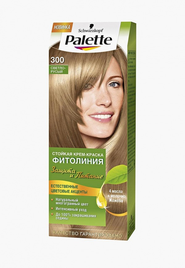 Купить Краска для волос Palette, ФИТОЛИНИЯ 300 Светло-русый, 110 мл, PA061LWJOL01, Весна-лето 2018