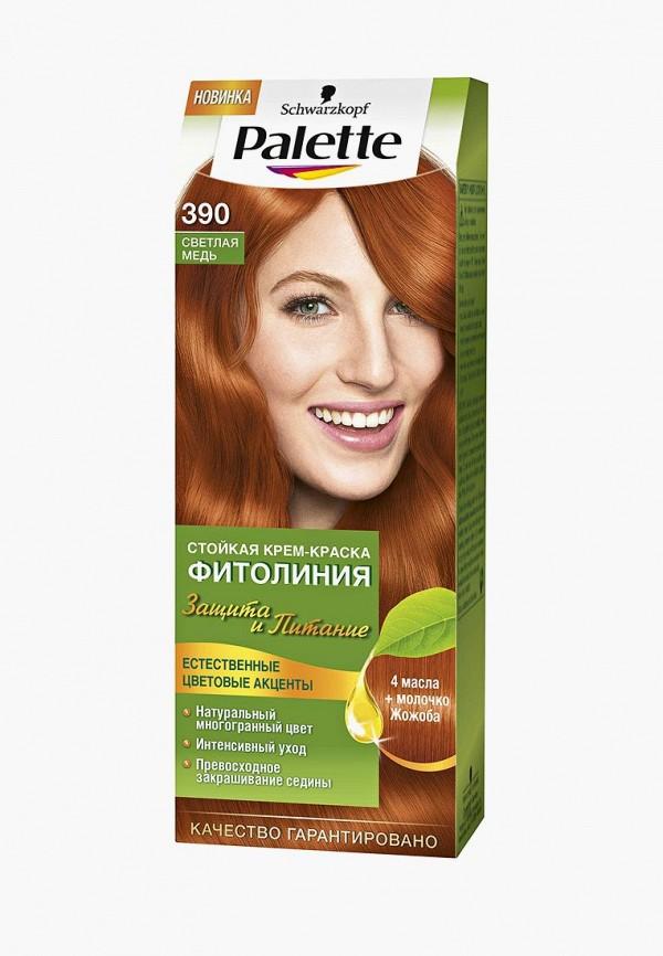 Купить Краска для волос Palette, ФИТОЛИНИЯ 390 Светлая медь, 110 мл, PA061LWJOL13, Весна-лето 2018