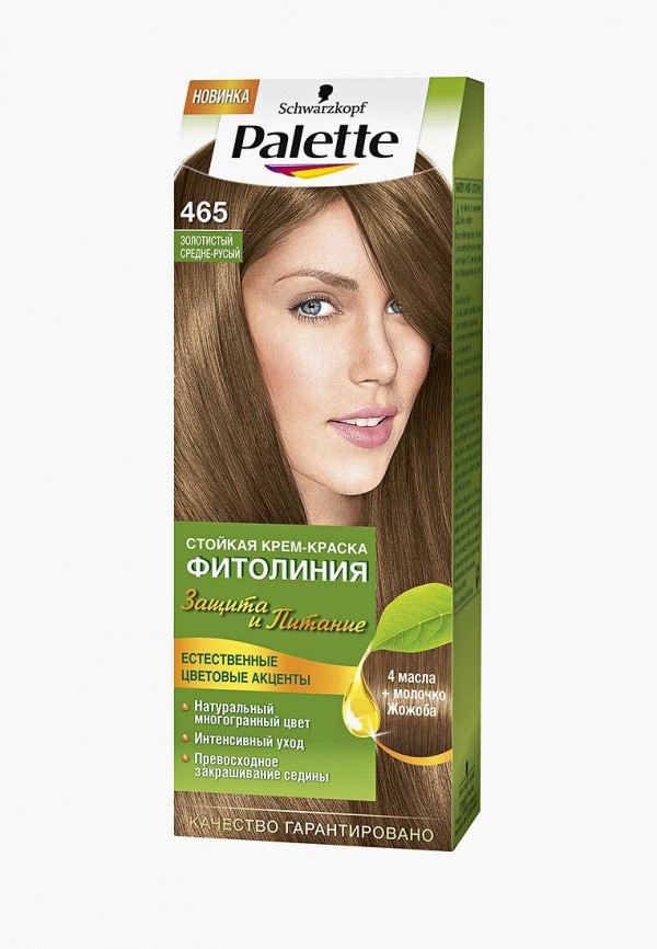 Купить Краска для волос Palette, ФИТОЛИНИЯ 465 Золотистый средне-русый, 110 мл, PA061LWJOL16, Весна-лето 2018