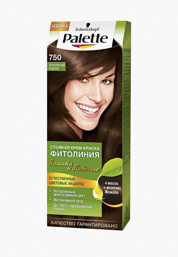 Купить Краска для волос Palette, ФИТОЛИНИЯ 750 Золотистый каштан, 110 мл, PA061LWJOL17, Весна-лето 2018
