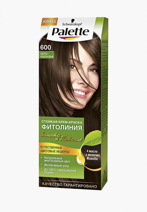 Купить Краска для волос Palette, ФИТОЛИНИЯ 600 Светло-каштановый, 110 мл, PA061LWJOL19, Весна-лето 2018