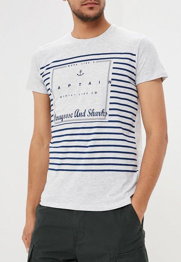 Фото - мужскую футболку Paragoose серого цвета