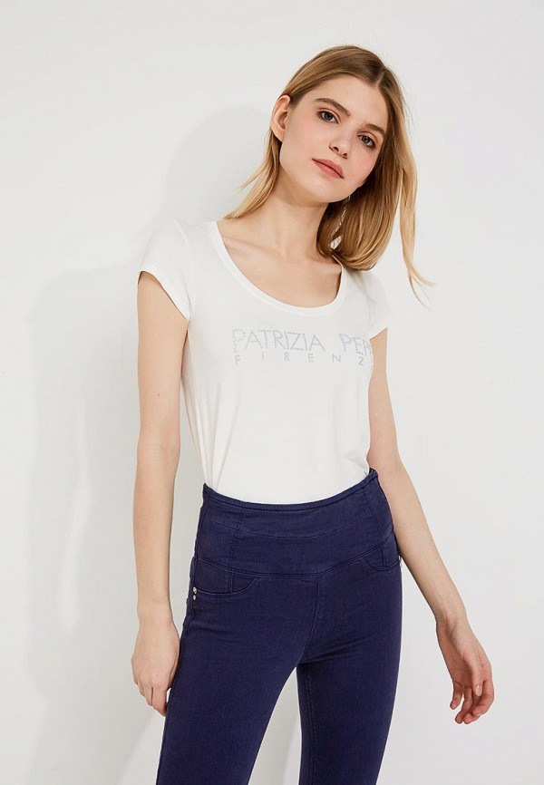 Фото - женскую футболку Patrizia Pepe белого цвета