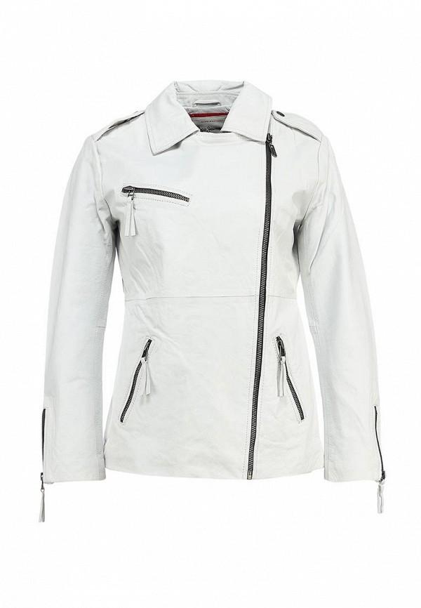 Куртка кожаная Pepe Jeans PE299EWADZ30. Цвет: белый
