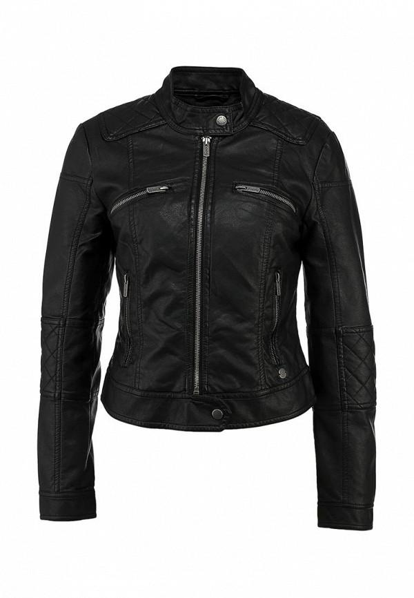 Куртка кожаная Pepe Jeans PE299EWCCT29. Цвет: черный