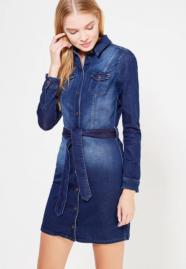 Платье джинсовое Pepe Jeans Pepe Jeans PE299EWTZW06 pepe jeans pepe jeans pm502627 803
