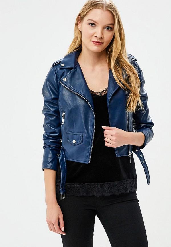 Купить Куртка кожаная Piazza Italia, PI022EWAXQV6, синий, Весна-лето 2018