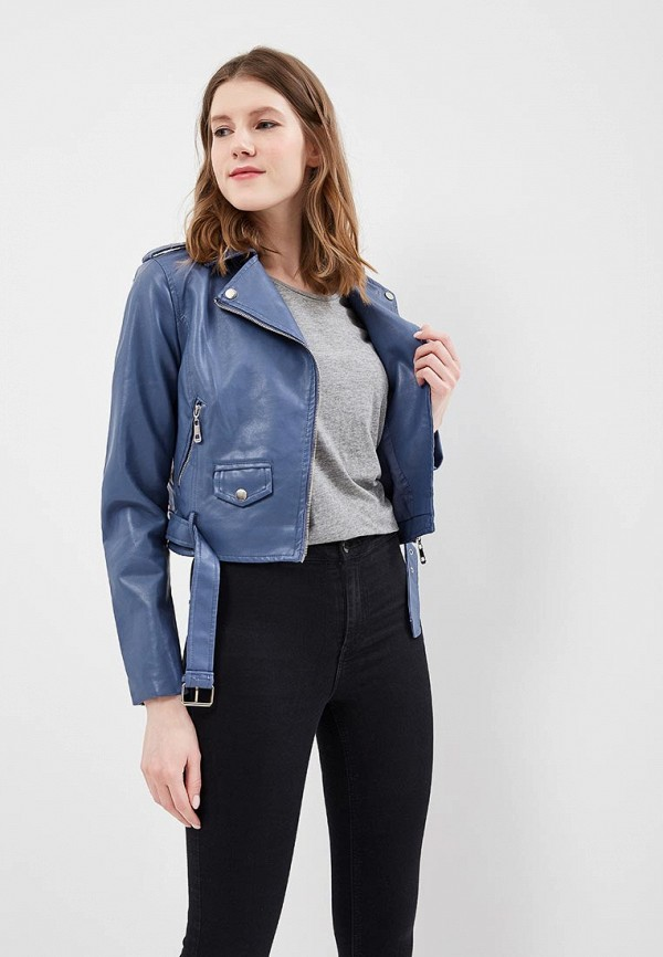 Купить Куртка кожаная Piazza Italia, PI022EWAXQV7, синий, Весна-лето 2018
