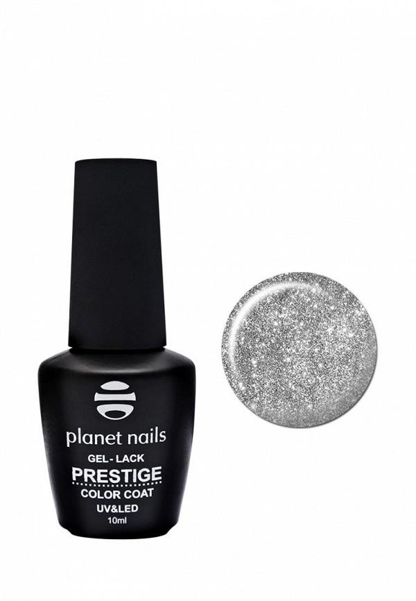 Гель-лак для ногтей Planet Nails, PRESTIGE - 566, 10 мл серебянное мерцание, PL009LWANHI1, серебряный, Весна-лето 2018  - купить со скидкой