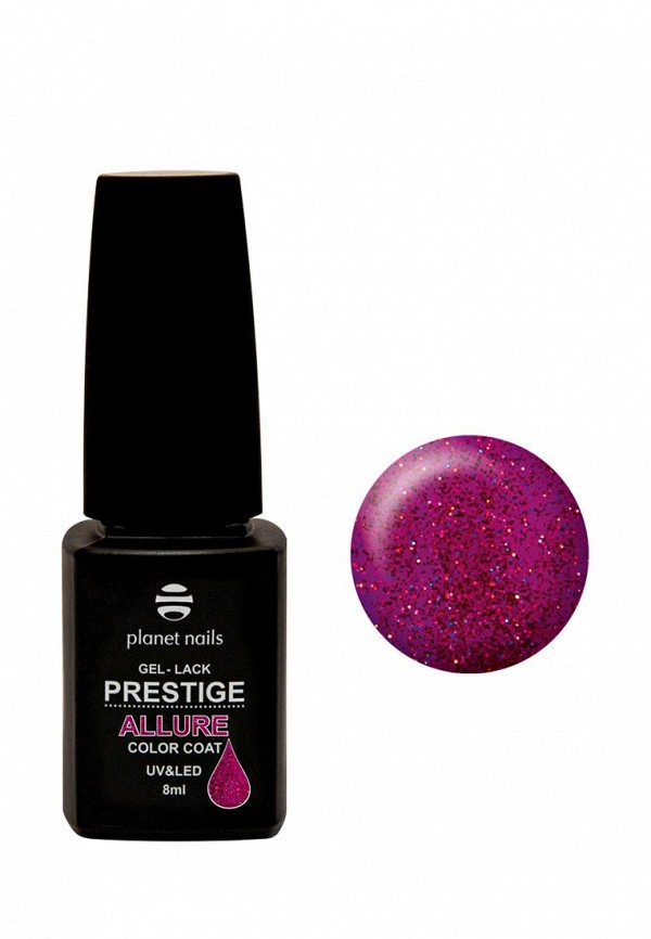 Купить Гель-лак для ногтей Planet Nails, PRESTIGE ALLURE - 637, 8 мл, PL009LWANHQ2, фиолетовый, Весна-лето 2018