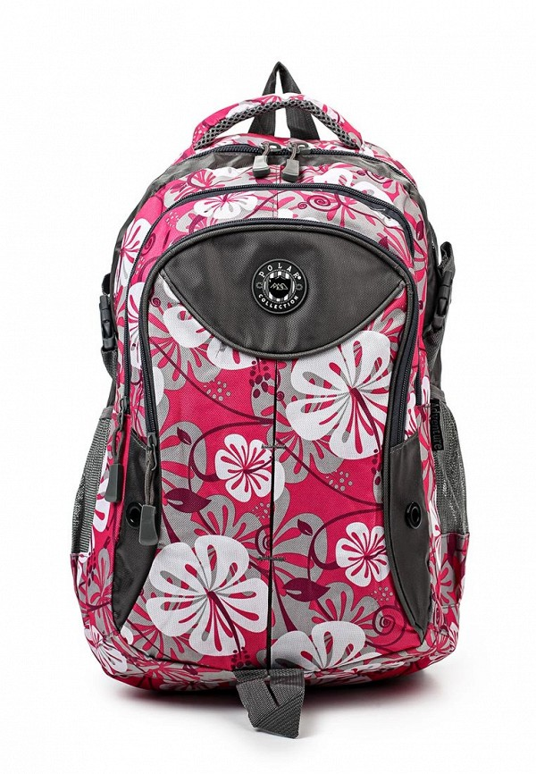 Городской рюкзак Polar 80066 Pink(т.роз.с роз.цветами)