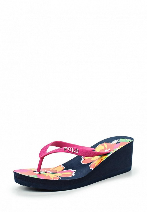 Сланцы Polo Ralph Lauren floral wedge