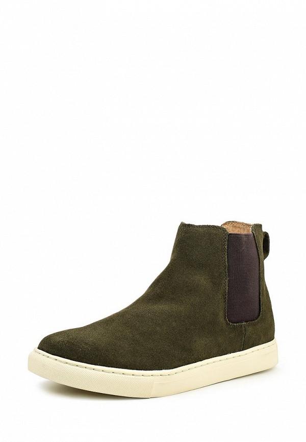 Мужские зеленые осенние ботинки