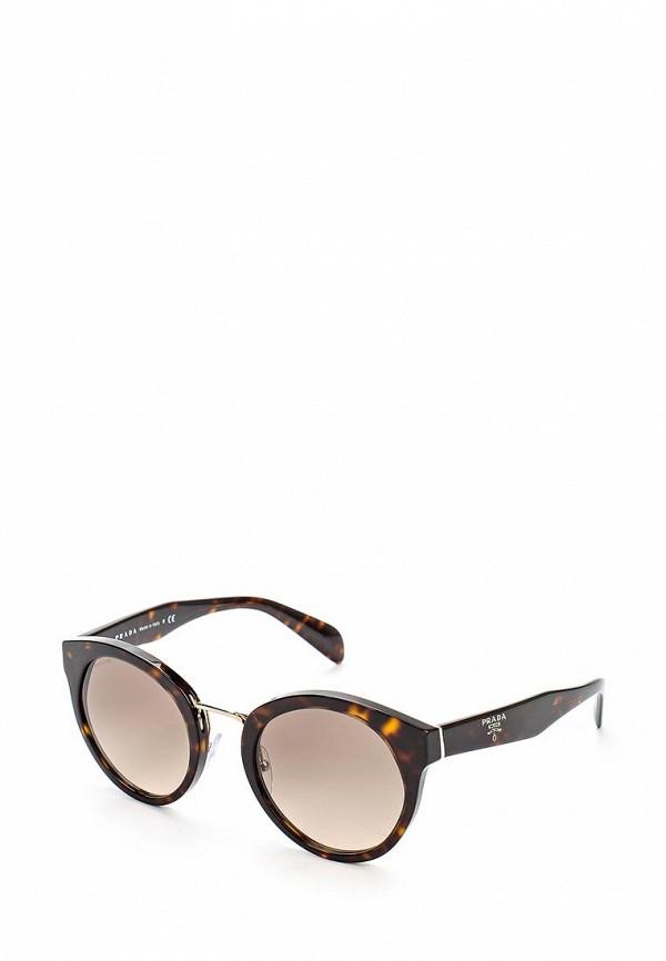 где купить Очки солнцезащитные Prada Prada PR040DWOXC38 дешево