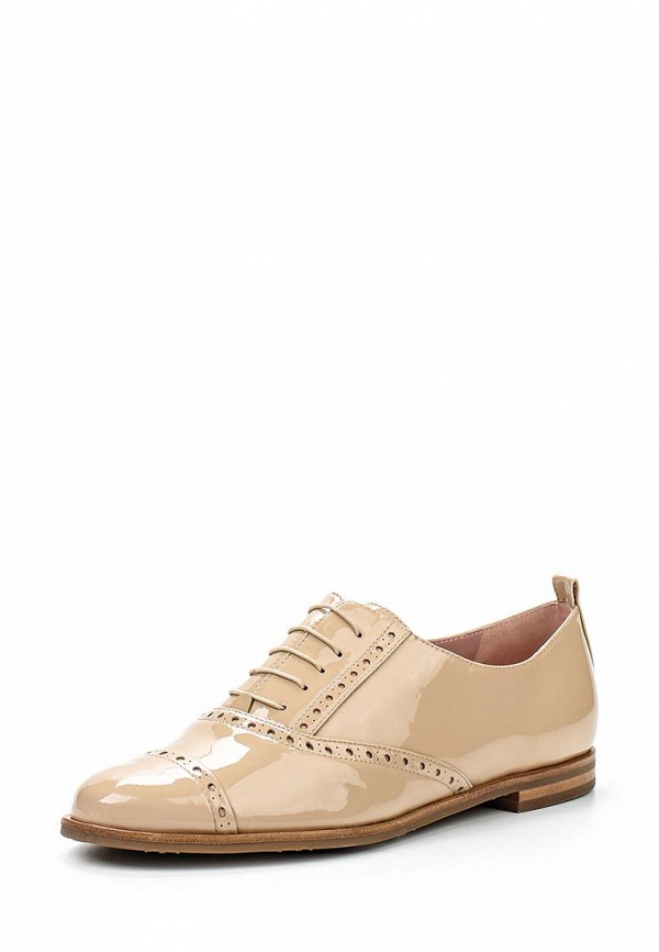 Женские бежевые испанские кожаные ботинки