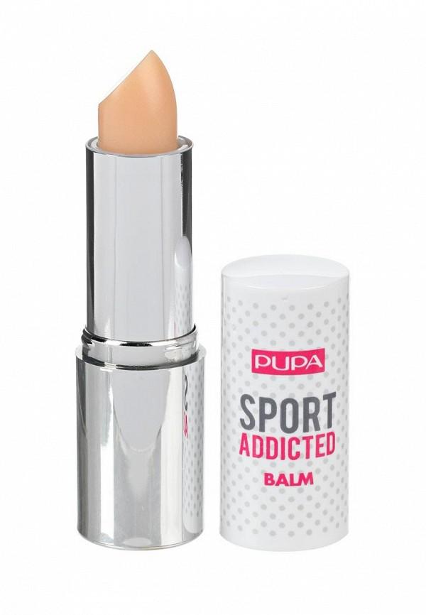 Купить Бальзам для губ Pupa, SPORT ADDICTED BALM, тон 001 Чистый ванильный, PU006LWYWW61, прозрачный, Весна-лето 2018