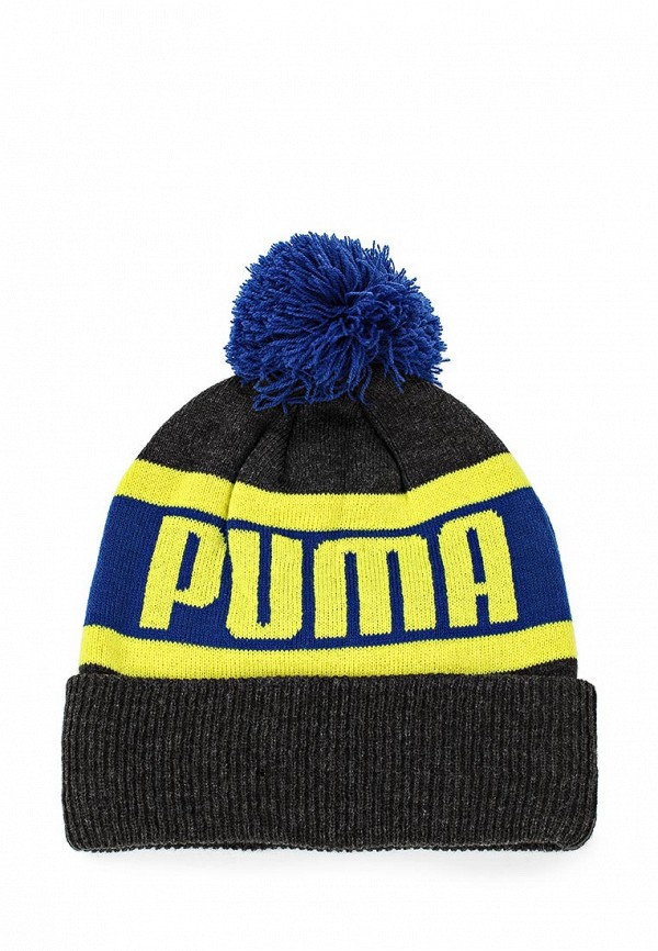 Шапка Puma Puma Wording Beanie dark gray heather-so