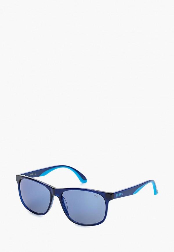 Купить Очки солнцезащитные PUMA, PU0106S002, PU053DMQYO16, синий, Весна-лето 2018